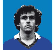 My Platini soccer legend poster by Chungkong