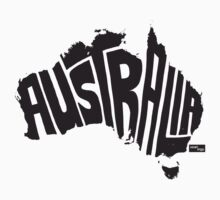 Australia Type Map (Black) by seanings