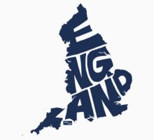 England Type Map (Blue) by seanings