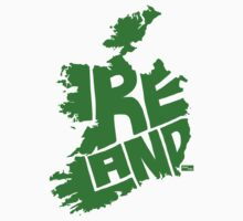 Ireland Type Map (Green) by seanings