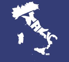Italy Type Map (White) by seanings