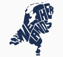 Netherlands Type Map (Blue) by seanings