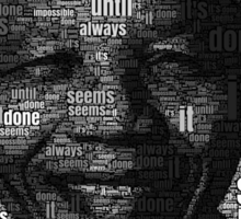 Nelson Mandela words Sticker