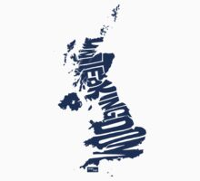 UK Type Map (Blue) by seanings