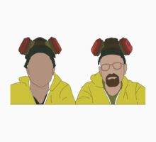 Jesse & Walt, Breaking Bad Faceless by Jordan Turner