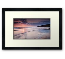 Dunraven Bay Reflection 02 Framed Print
