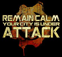 Remain Calm COG Print by Adam Angold