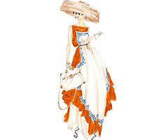 Fashion Illustration 'Paris Summer Dress Fashion Drawing by Alex Newton