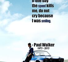 Paul Walker Memory by AstroNance