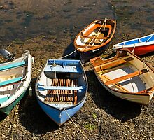 Boats in the harbor at Solva, Pembrokeshire, Wales, UK  by Speedy78