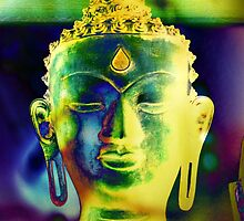 5048 Buddha head by AnkhaDesh