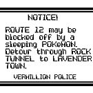 Route 12 may be blocked by nimbusnought