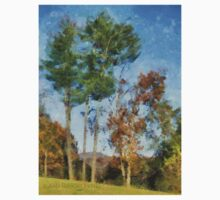 Tall Trees Against A Blue Sky Kids Clothes