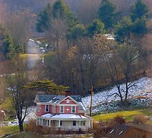 Pink House in the Hills by TrendleEllwood