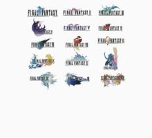 Final Fantasy Logos from the Main Games by ----User