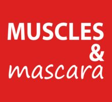 Muscles and Mascara Tee White Ink. Running Tee. Gym Tee. Fitness CrossFit. by Max Effort