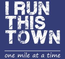 I Run This Town  Marathon Tee 13.1 Tank Top. 26.2 Tee. Half Full Marathon Tee. Running Tee. Workout Tee by Max Effort