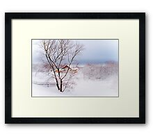 Village under the Snow. Russia Framed Print