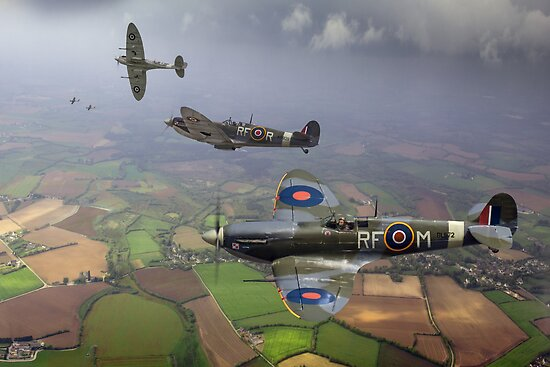 Spitfire fighter sweep by Gary Eason + Flight Artworks
