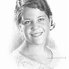 Daughter pencil portrait by Mike Theuer