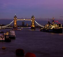 Tower Bridge At Night by PatiDesigns
