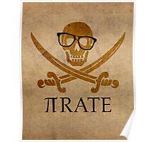 Pirate Humor Math Number Pi Nerd Poster Poster