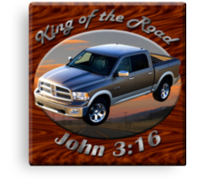 Dodge Ram Truck King of the Road Canvas Print