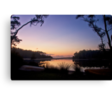 Lakeside moorings Canvas Print