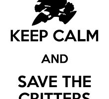 Keep Calm Critters Print by Adam Angold
