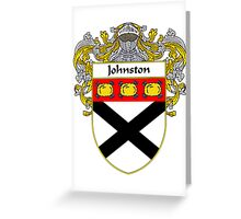 Johnston Coat of Arms/Family Crest Greeting Card