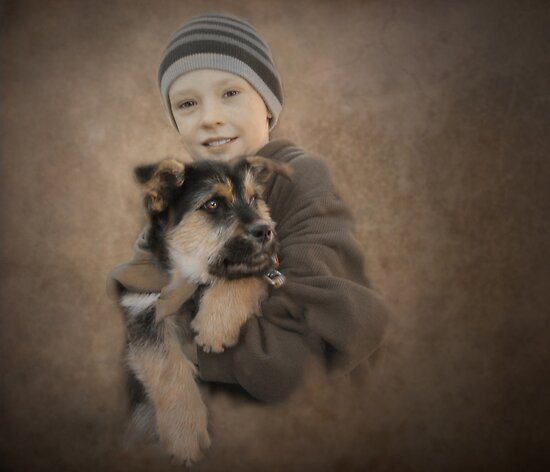 A boy and his dog by Christina Brundage
