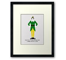 Elf - The Best Way to Spread Christmas Cheer is Singing Loud for All to Hear Framed Print