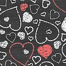 Chalk hearts pattern by oksancia