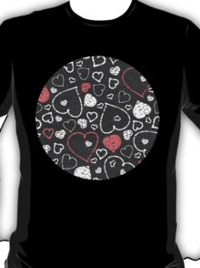 Chalk hearts pattern T-Shirt