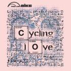 Cycling T Shirt - Cycling Love by ProAmBike