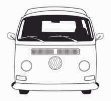 Early Bay VW Camper Line Art by splashgti