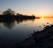 Greeting the New Day on Lake Ontario in Toronto, Canada by Georgia Mizuleva