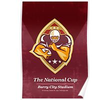 American Football National Cup Poster Art Retro Poster