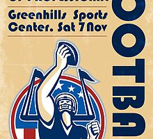 League of Pro Football Poster Art by patrimonio
