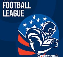 American National Super Football League Poster by patrimonio