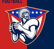 American National Series Football Poster  by patrimonio