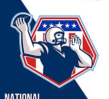 American National Football Circuit Poster by patrimonio