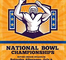 American Football National Bowl Poster Art by patrimonio
