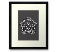 How to play Rock-paper-scissors-lizard-Spock Framed Print