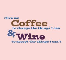 Coffee & Wine Serenity prayer by Jeff Newell