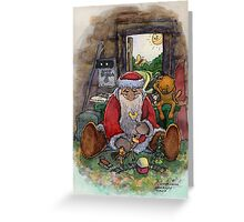 Father Frost in the summer Greeting Card