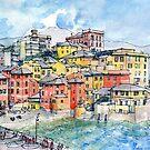 Genova Boccadasse (Liguria-Italy) by Luca Massone  disegni