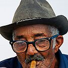 Old Cuban man & cigar, Trinidad, Cuba by buttonpresser