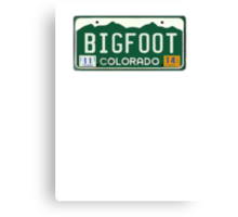 Bigfoot Colorado License Plate  Canvas Print