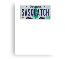 Oregon Sasquatch License Plate Canvas Print